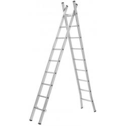 Escalera 2x7 2.5+2.5 m